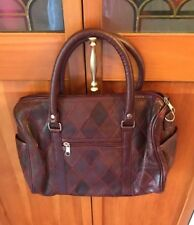 Burgundy Purse, Medium Sized Single Zipper Compartment, With Side Pockets