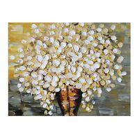 Flower Oil Painting Framed Hand Painted Canvas Modern Palette Knife Wall Art