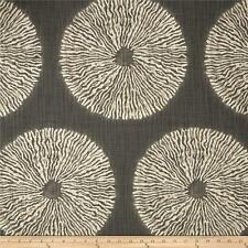 Dark Grey Medallion Upholstery Fabric by the Yard, Grey Bohemian Drapery Fabric