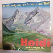 "33T HEIDI Série TV Vinyle LP 12"" CANTA EN ESPANOL B.O. RTVE - RCA 7024 RARE"