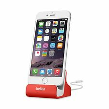 BELKIN DOCK SYNC CHARGE MIXIT LIGHTNING FOR IPHONE X 8 7 6S 6 PLUS SE RED F8J045