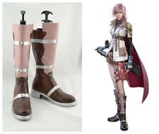 Final Fantasy 13 Lightning Cosplay Costume Boots Boot Shoes Shoe