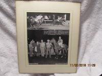 1958 Horse Racing Winners Circle Photo Fabulous Cadet Cahokia Downs A. Landing