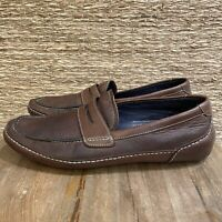 Cole Haan Brown Leather Casual  Slip On Loafers Shoes Men's Size 9.5