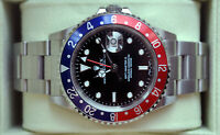 Rolex [NEAR NOS+B+P+NO-HOLE] GMT Master 2 Pepsi 40mm 16710T - 2006
