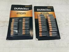Duracell 40-pack Aa + 32-pack Aaa Batteries 10 year