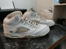 timeless design a8ecf 125f3 New ListingNike Air Jordan 5 V Retro BG Sz 7 Y White Metallic Silver GS OG  440888-130