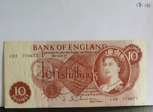 BANK OF ENGLAND TEN SHILLINGS  Hollom L03 (#58.131)