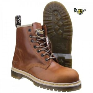 Dr Martens Icon 7B10 Tan Steel Toe Cap 7 Eyelet Heavy Duty Safety Work Boots