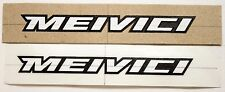 Genuine NOS Serotta 3M Vinyl Meivici Bike Frame Decals OEM White/Black Outline