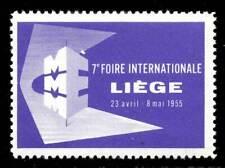 Belgium Poster Stamp - 1955 Liège - MMME Industrial Fair