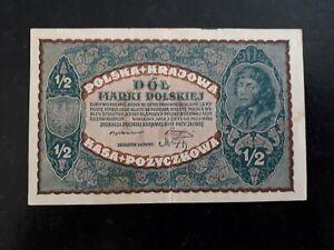 billet Pologne 1/2   1920