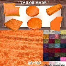 Mv100 Orange Crush Velvet Sofa Seat Patio Bench Box Cushion Bolster Cover/Runner