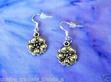 BUY 3 GET 1 FREE~SILVER FLOWER EARRINGS~MOTHERS DAY GIFT FOR HER MOM WIFE FRIEND