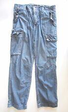 Nautica jeans men 34 waist x 30 Denim Blue 100% cotton khaki Cargo pants pocket