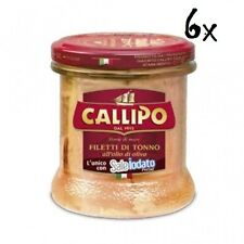 6x Callipo filetti di Tonno all'olio di oliva VERLEGT Thunfisch in Olivenöl 200g