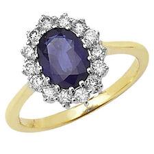 Echte Edelstein-Ringe aus Gelbgold mit Saphir für Verlobung