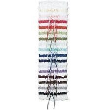 Wedding Bridal Satin Rhinestone Rosette & White Lace Toss Garter - 18 colors