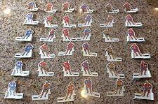 Vintage 1971-72 Coleco Banana Blade Table Hockey Players-Original 6 Team Set