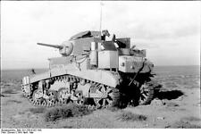 US Army M3 Stuart Tank North Africa World War 2 Reprint Photo 6x4 Inch