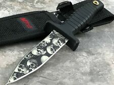 "MTECH SKULL DAGGER 9"" Fixed Blade DOUBLE Edge TACTICAL BOOT Knife + Sheath New"