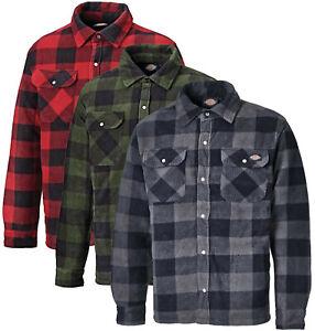 Dickies Herren Holzfällerhemd Portland Fleece Flanell Holzfäller Hemd gefüttert