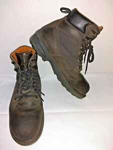 "Timberland Mens PRO 6"" Brown Leather Steel Toe Work Boots Size US 10.5 EU 44"