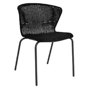 Habitat Mickey Rattan Chair Black Wingback
