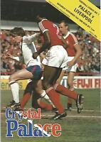 Football Programme - Crystal Palace v Liverpool - Div 1 - 15/11/1980