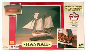 AMATI 1:70 SCALE 1442 HANNAH ARMED SHOONER OF THE AMERICAN REVOLUTION MODEL KIT