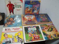 Lot of 8 Movie Laser Disc Lot Walt Disney Santa Clause Snow white Aladdin etc..