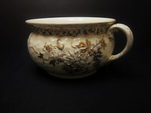 Rare Antique Powell, Bishop & Stonier P B & S Chamber Pot Oriental Ivory 1890
