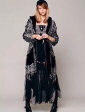 Rare Free People Women's Tulle Maxi Slip Dress Boho Size Medium Black