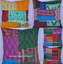 50 PC Wholesale Lot Patchwork Kantha Vintage Silk Cushion Cover Pillow Sham Boho