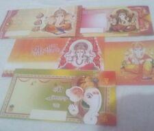 25 Paper Cash Gifting Envelopes God Ganesha Printed Paper Money Checks Gifts