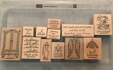 Stampin Up Fashion Statements Set Of 12 Wood Mounted Rubber Stamp Su Scrapbook