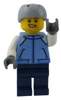 Lego Snowboarder Beine in dunkelblau (cty1087) Mann Minifigur Figur Neu