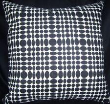 Maharam UNISOL Black White Modern Mid Century Contemporary Pillow