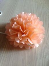 20x 13cm Peach paper pom poms flowers 1st birthday wedding baby shower garland