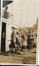 WW1 - Military Troops Boarding Ship- Vintage Photo Still