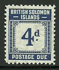 Album Treasures Solomon Islands Scott # J4  4p Postage Due  Mint Lightly Hinged