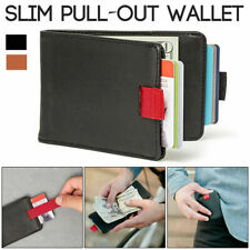 12 Cards & 30 Bills Handmade Wallet Slim Pull-Out Card Leather Card Cash Purse