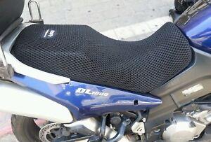 Black Seat Cover Net Sit & Fly For SUZUKI Vstrom 650 1000 KTM Adventure 990 XXL