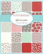 "Winterberry Christmas Holiday Moda Fabric Quilt Charm Pack 42   5"" squares"