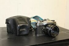 Fujica ST 705 SLR 35mm Film Camera w/ Chinon 1:1.7 f=55mm Lens, Case & Strap (nl