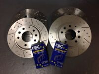 Mazda MX5 Mk3 2.0 Grooved Performance Brake Discs & EBC UltiMAX Pads, Fnt + Rear