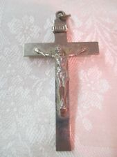 Vintage large silver tone Cross