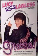XENA - AUTOGRAPHED POSTER - LUCY LAWLESS IN GREASE - NEW YORK CITY 1997
