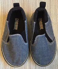 Gymboree Chambray Toddler Boy Slip On Shoes,size 5