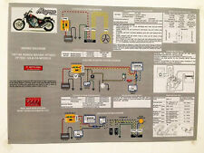 NEW! 1987 1988 VF700C VF750C Honda Super Magna Laminated Wiring Diagram